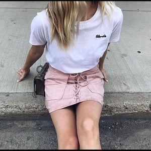 Brunette the Label Vegan Suede Skirt
